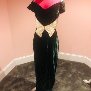 Vintage 60s velvet satin gown